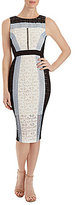 Jax Sleeveless Tri-Tone Lace Sheath Dress