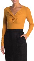 Elodie K Long Sleeve Twisted Front Rib T-Shirt