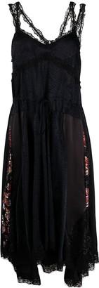 Koché Snakeskin-Print Asymmetric Dress