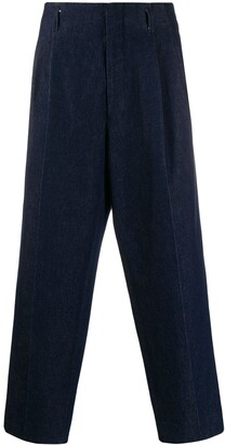 Ami Denim Pleated Trousers