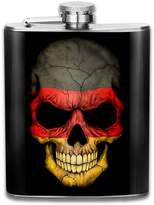 ZhongXiaoStyle German Flag Skull Art Poster Stainless Steel Flask