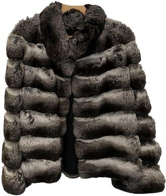 Santi Nello Grey Chinchilla Jacket for Women