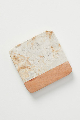 Anthropologie Marbled Acacia Coaster By in Beige Size COASTERS