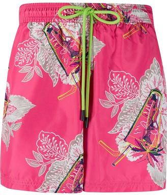 Etro Floral Drawstring Swim Shorts