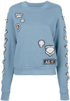 As65 embroidered sweatshirt
