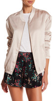 Free Press Satin Bomber Jacket