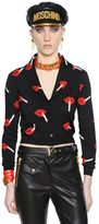 Moschino It's Lit Intarsia Lips Wool Cardigan