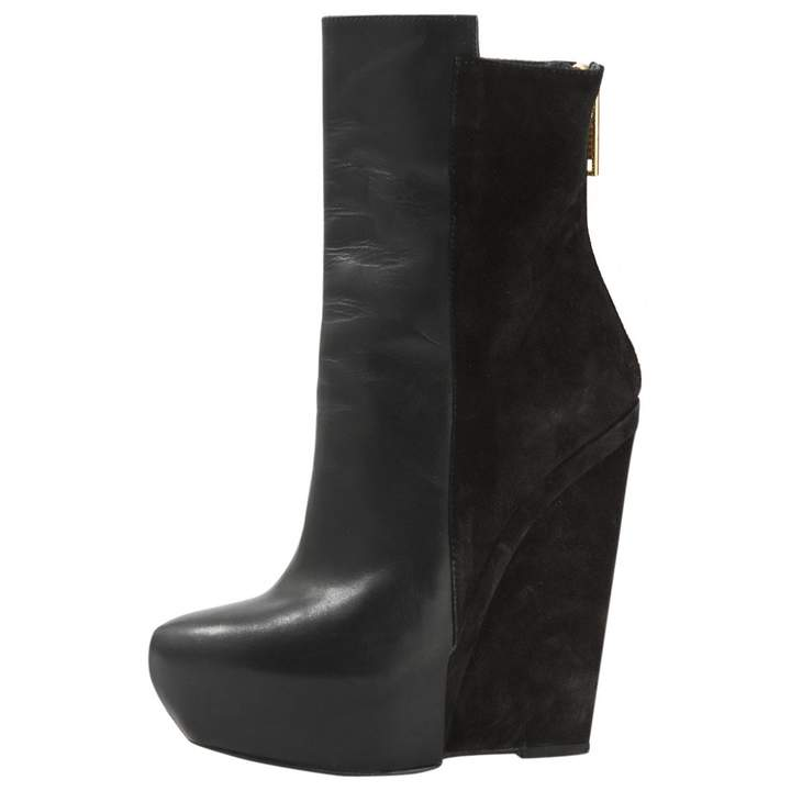 Gareth Pugh Black Leather Boots