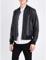 Paul Smith stand-collar leather bomber jacket