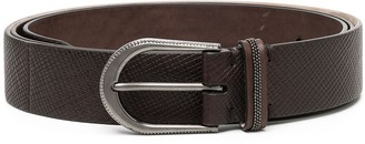 Brunello Cucinelli Textured Buckle Belt