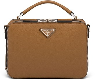 Prada Brique Saffiano leather messenger bag