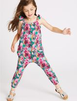 Marks and Spencer Pure Cotton All Over Print Jumpsuit (3 Months - 5 Years)