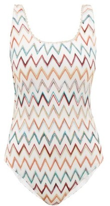 Missoni Mare - Chevron-striped Swimsuit - White Multi