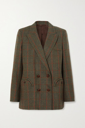 BLAZÉ MILANO Drum Beat Everynight Checked Wool Blazer - Army green