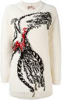 No.21 bird intarsia jumper