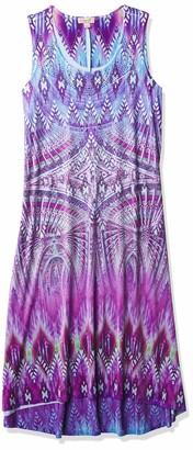 One World ONEWORLD Women's Sleeveless Printed Microjersey Maxi Dress