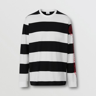 Burberry ong-seeve Striped Cotton Oversized Top