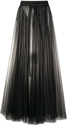 Loulou tulle pleated maxi skirt