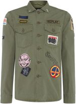 Replay Jacket With Patches And Back Print