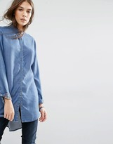Tommy Hilfiger Lightweight Denim Shirt With Drop Hem