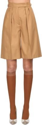 Max Mara Cotton Twill Shorts
