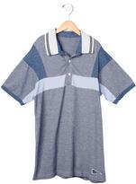 Armani Junior Boys' Striped Polo Shirt