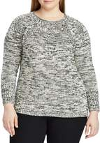 Chaps Plus Cable Knit Cotton-Blend Sweater