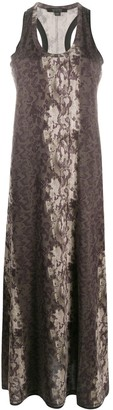 AllSaints Snake-Print Maxi Dress