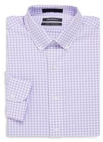 Saks Fifth Avenue Oxford Gingham Slim Fit Checked Cotton Dress Shirt