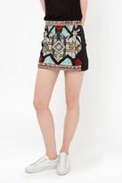 French Connection Medina Jewel Embellished Mini Skirt