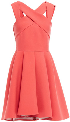 Maje Pleated Crepe Mini Dress