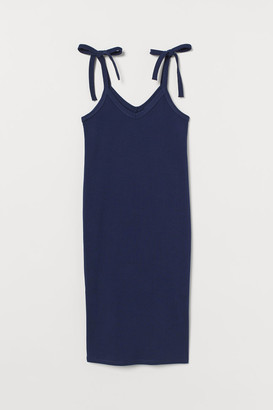 H&M MAMA Ribbed Dress - Blue