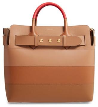 Burberry Medium The Belt Triple Stud Paneled Leather Bag