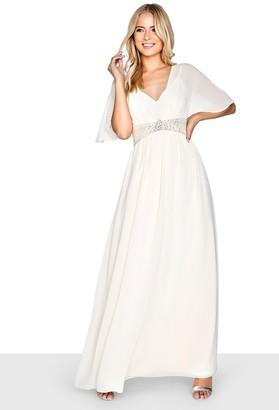 Little Mistress Beige Maxi Dress