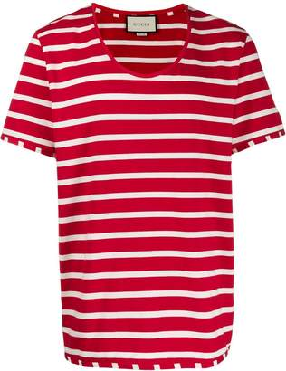 Gucci striped scoop-neck T-shirt