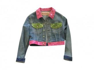Jeremy Scott Blue Cotton Jacket for Women
