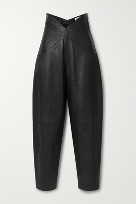 ATTICO Leather Tapered Pants - Black