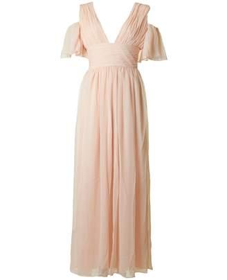 French Connection Constance Drape Cold Shoulder Dress Colour: PINK, Si