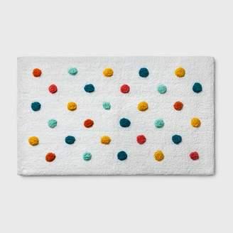 Pillowfort Polka Dot Bath Rug Green - PillowfortTM