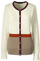 Classic Women's Supima Colorblock Cardigan Sweater-Gemstone Teal