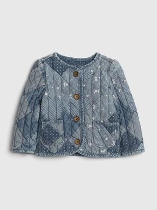 Gap Baby Denim Patchwork Quilted Jacket