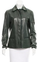Missoni Collared Leather Jacket