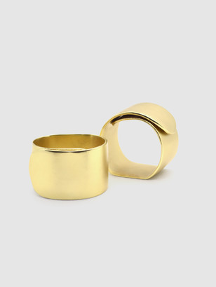 Quette Home The Nadine Brass Napkin Ring Set