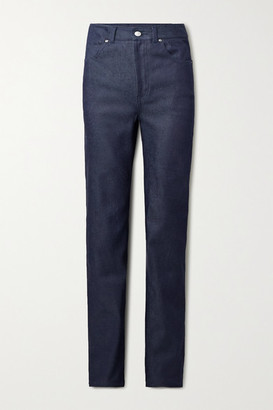 Commission High-rise Straight-leg Jeans - Dark denim