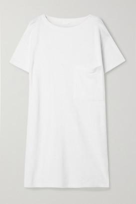 Skin Yael Textured Cotton-blend Terry Nightdress - White