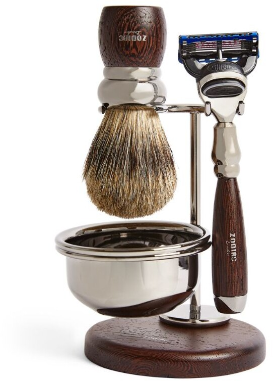 Thumbnail for your product : Zodiac Wooden 3-Piece Shaving Set