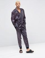 Asos Loungewear Satin Bottoms In Paisley Print