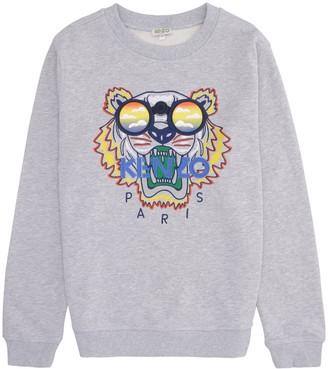 Kenzo Kids Logo Detail Cotton Sweatshirt