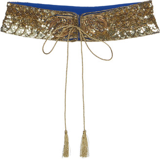 Dundas Embellished Silk Georgette Waist Belt