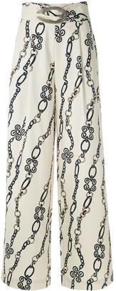 Framed Chain wide leg trousers